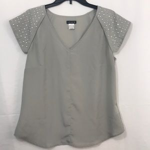 Venus gray blouse Medium